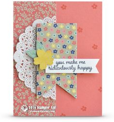 CARD: You Make Me Ridiculously Happy Card and Winner Announcement | Stampin Up Demonstrator - Tami White - Stamp With Tami Crafting and Card-Making Stampin Up blog