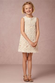 Calista Dress in Dresses Flower Girl Dresses at BHLDN; Perhaps change out of the gown after the ceremony?
