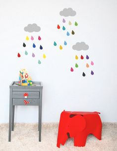 multicolored clouds Stickers