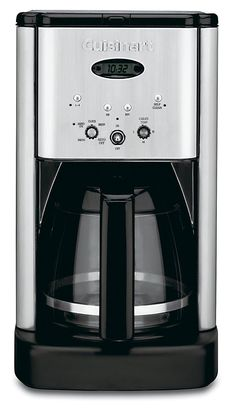 Cuisinart Brew Central Programmable Coffee Maker - Enjoy starting your day with a perfect cup of coffee. This sleek, programmable coffeemaker contains a built-in charcoal water filter, made to deliver the finest brew possible! Thermal Coffee Maker, Best Drip Coffee Maker, Coffee Drinks, Coffee Cups, Coffee Beans, Coffee Shop, Charcoal Water Filter, Thing 1, Camping Coffee