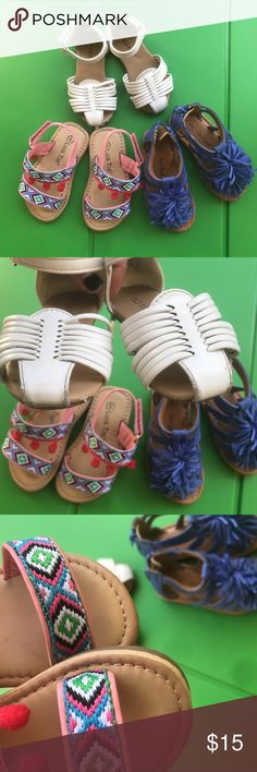 Lot of 3 Toddler shoes Set of 3 so cute toddler shoes. ALL SIZE 6. Will sell separately ✨ Shoes Sandals & Flip Flops