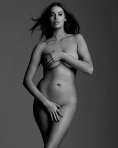 Robyn Lawley is considered a plus size model. I would freaking love to have her body!!