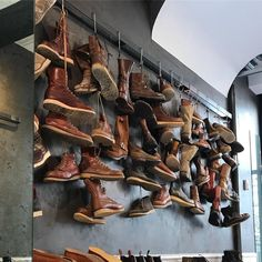 The Red Wing Amsterdam Wall of Fame! Come and check it out there are some very special pairs on the wall! - https://ift.tt/180OFjM -