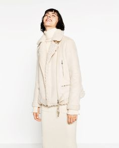 SUEDE EFFECT AND FLEECY JACKET-View All-OUTERWEAR-WOMAN-SALE | ZARA United States
