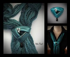 I made this piece for the upcoming IPCA retreat auction. I'm having fun playing with Scarf/fiber jewellery lately