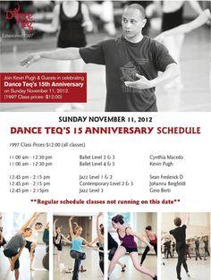 Dance Teq 15 Anniversary Celebration November 11, 2012