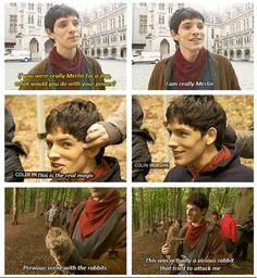 """I am really Merlin."" Colin is just WAY TOO ADORABLE!!!!!! I LOVE him ;)"