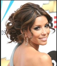 Find Eva Longoria's Latest Hairstyles in This Gallery. Including Eva's short. - Find Eva Longoria's Latest Hairstyles in This Gallery. Including Eva's short haircuts, long hai - Wedding Hair And Makeup, Bridal Hair, Hair Makeup, Latest Hairstyles, Wedding Hairstyles, Bridesmaid Hairstyles, Wedding Updo, Formal Hairstyles, Prom Updo