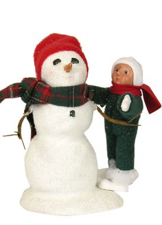 Byers' Choice Toddler Decorating Snowman Inv # 2947
