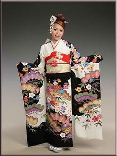 wearing bingata furisode