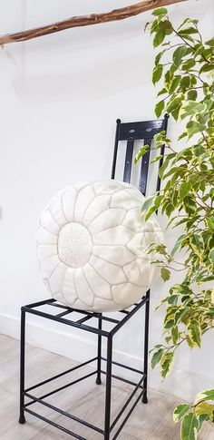 WHITE LEATHER POUF – Milsouls Real Leather, White Leather, Moroccan Leather Pouf, Decorating Your Home, Outdoor Spaces, Im Not Perfect, Sweet Home, Nursery, This Or That Questions