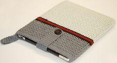 Quite elegant! Crochet Tablet Cover, Crochet Phone Cases, Crochet Pouch, Crochet Purses, Crochet Gifts, Crochet Bookmark Pattern, Crochet Bookmarks, Macrame Patterns, Crochet Patterns
