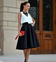 Resultado de imagen para faldas circulares largas