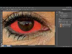 Como corregir Ojos Amarillos, Rojos y con Manchas - Tutotorial de Photoshop - YouTube