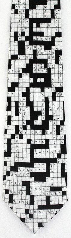Christian Crossword Puzzle Mens Necktie Religious Word Silk Gift Neck Tie New #EaglesWings #NeckTie