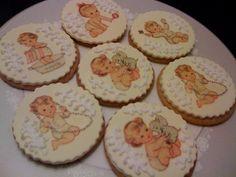 Vintage baby shower cookies! Just darling.