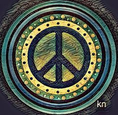 ✌Peace Sign __[Peace sign Art by KN] - 12/28/16 #cGreens #cYellow