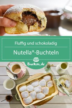 Nutella®-Buchteln These fluffy Buchteln are a real classic. Coupled with Nutella® they are well received by everyone and especially on the breakfast t Healthy Dessert Recipes, Easy Desserts, Baking Recipes, Cake Recipes, Snack Recipes, Dessert Simple, Desserts Sains, Food Cakes, Easy Snacks