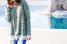 Styling the Grass is Greener Top from the November Magnolia Post Co Collection, The Perfect Casual Look for Fall! Fall Lookbook, Green Tops, Casual Looks, Magnolia, Hooded Jacket, Grass, November, Jackets, Collection