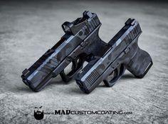 #MADLandCamo on a couple Glocks in #MADBlack & #SniperGrey…