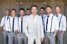 10 Ways to Style Your Groom (and his men) Vintage - Suspenders