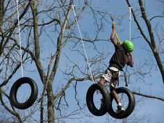 Military Obstacle Course | military youth challenges himself during the rope obstacle course ...