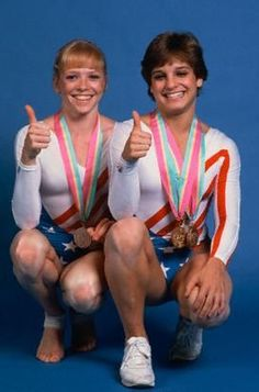 Mary Lou Retton and Julianne McNamara- two of my all time favorites!  My husband and I were dating back in their Olympic days and his favorite saying was... Julianne truly can and Mary Lou can do it too!!