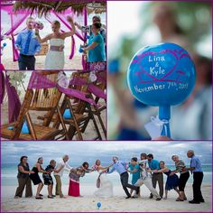 "Lina & Kyle #WeddingMaracas  ""Heidi"" Design for their Tulum wedding at Ana y Jose Hotel! Love the picts!!"