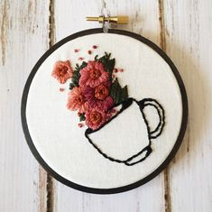 Inspirational & Tender Embroidered Illustrations  Delaware-based embroidery artist Chelsea from Thread The Wick composes traditional and lovely handmade designs inspired by nature flowers and beautiful quotes.  Made in traditional hoop art fashion each piece is stitched to perfection with the best materials methods and tips. You can find her entire collection in her Etsy shop.  View similar posts here!