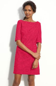 Now they have the dress I wanted (and at a fraction of what I paid):  Adrianna Papell Lace Shift Dress | Nordstrom
