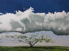 http://francoisfournier.fineartstudioonline.com/   This painting depicts an apple tree full of flowers during the spring season with a great cumulus cloud overhead.Fournier Appalachian Landscape Oil Painting by Fournierpainter, $2600.00
