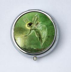 Fairy Pill Case pillbox pill box with a wand fairytale Kitsch art nouveau DIY
