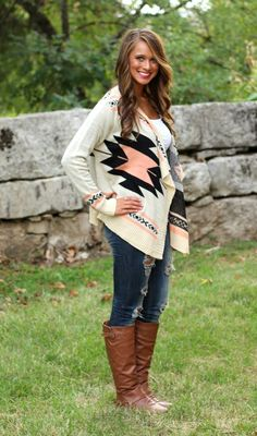 The Pink Lily Boutique - Navajo Cardigan CORAL, $38.00 (http://www.thepinklilyboutique.com/navajo-cardigan-coral/)