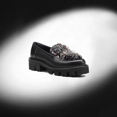 Banff features a lug sole and applied  flowers in different materials. A  rock soul and an ultra refined style. Find out more at ballin-shoes.com   Ballin ... a364c324e25