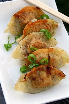 Pan-fried Dumplings recipe, assemble, fry some up, freeze the rest for a-few-at-a-time pan frying!