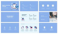 Digital marketing strategy Free Google Slides Theme PowerPoint Template Powerpoint Design Templates, Presentation Templates, Digital Marketing Strategy, Free, Presentation Layout