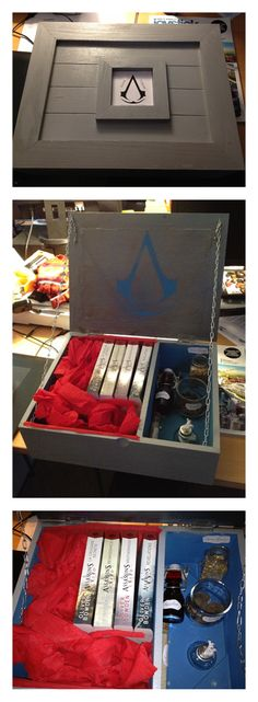 Homemade Assassin's creed bomb box with books DIY