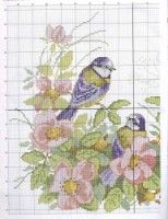 "Gallery.ru / Olsha - Альбом ""3 птицы на цветах"""