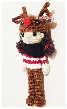 Amigurumi Crochet Pattern  Reindeer Girl PDF file by NuiErnik, $6.25