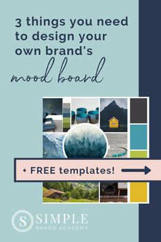 The 3 Things You Need To Create Your Own Mood Board: (Includes FREE mood board templates & instructions!) About: How to create a mood board, mood board inspiration color schemes. Logo Branding, Branding Design, Business Branding, Branding Ideas, Logo Design, Web Design, Boutique Logo, Simple Website Design, Business Design