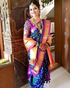 Gorgeous bride looking stunning in her two different looks feras and wedding. Got very less time for this looks. Still I achieved ♥️ In… Maharashtrian Saree, Marathi Saree, Marathi Bride, Marathi Wedding, Saree Wedding, Marathi Nath, Bridal Sarees, Wedding Bride, Wedding Rings