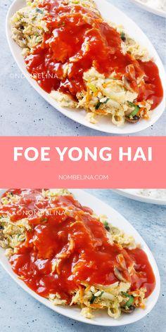 Foe yong hai recept. #vegetarisch #chinees #zelfmaken #tomatensaus #afhaal #koken #omelet #groenten Veggie Recipes, Asian Recipes, New Recipes, Dinner Recipes, Ethnic Recipes, Vegan Vegetarian, Vegetarian Recipes, Main Menu, Wok