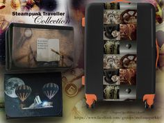 Steampunk Traveller is a collection of designs inspired by adventure and exploration. These designs are available on a range of travel accessories and Bon Voyage gifts.