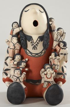 Mary Trujillo, Cochiti Pueblo (New Mexico, United States), b. 1937, Male Storyteller, 2005 - now at the Lowe Art Museum Exhibit: Sacred Stories, Timeless Tales: Mythic Traditions in World Art