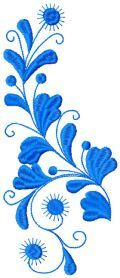 Branch free embroidery design. Machine embroidery design. www.embroideres.com