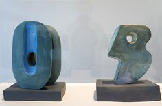 Barbara Hepworth Plaster Sculptures | Barbara Hepworth working models in plaster for bronze sculptures ...
