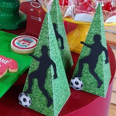 Image may contain: shoes Soccer Birthday Parties, Birthday Party Design, Football Birthday, Soccer Party, 50th Birthday Party, Soccer Decor, Soccer Banquet, New Years Hat, Liverpool Soccer