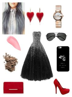 """""""Sans titre #2307"""" by amandine-collet ❤ liked on Polyvore featuring Yves Saint Laurent, Gucci, Kevyn Aucoin and Dolce&Gabbana"""
