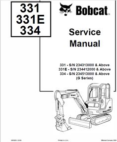 Bobcat 406 to 709, 8811, MO6 Backhoe Attachment Service