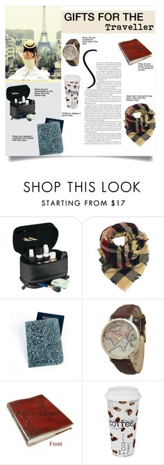 """""""Gifts for the Traveller"""" by overstock ❤ liked on Polyvore featuring Royce Leather, LA77, Geneva, Könitz, giftguide, gifts, HolidayWishList and Overstock"""